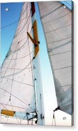 Sunset Sails 2 Acrylic Print by Alan Hausenflock