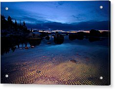 Sunset Sand Ripples Acrylic Print