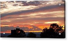 Sunset Santa Fe Acrylic Print by James Granberry