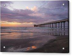 Sunset  Scripps Beach Pier La Jolla Ca Img 1 Acrylic Print by Bruce Pritchett