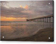Sunset Scripps Beach Pier La Jolla San Diego Ca Image 4  Acrylic Print by Bruce Pritchett