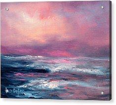 Sunset Sea Acrylic Print by Sally Seago