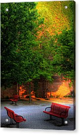 Sunset Seats Acrylic Print