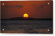 Sunset Seven Mile Bridge Acrylic Print