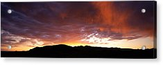 Sunset Sierra Nevada Mountains Ca Acrylic Print by Panoramic Images