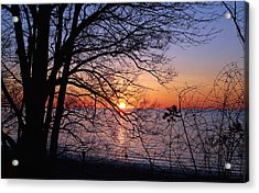 Sunset Silhouette 2 Acrylic Print by Peter Chilelli