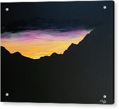 Acrylic Print featuring the painting Sunset Silhouette by Kevin Daly