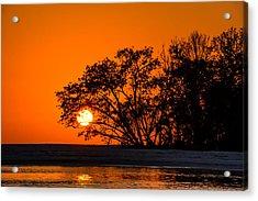 Sunset Sillouette Acrylic Print
