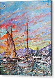 Sunset Acrylic Print by Sinisa Saratlic