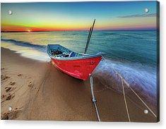 Sunset Skiff Acrylic Print