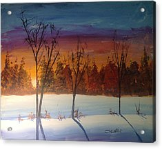 Sunset Snow Acrylic Print