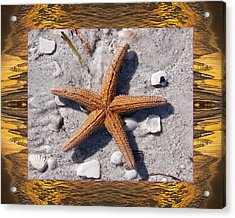 Acrylic Print featuring the photograph Sunset Starfish by Bell And Todd