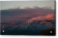 Sunset Storm On The Sangre De Cristos Acrylic Print