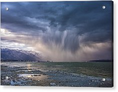 Sunset Storm Over Mono Lake Acrylic Print