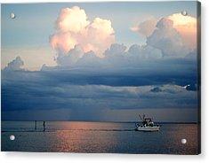 Sunset Storm Acrylic Print by Steven Scott