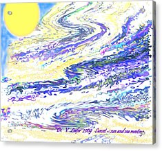 Sunset-sun And Sea Meeting Acrylic Print by Dr Loifer Vladimir