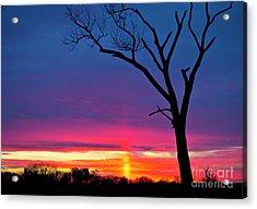 Sunset Sundog  Acrylic Print by Ricky L Jones