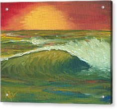 Sunset Surf Acrylic Print