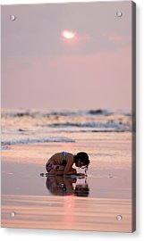 Sunset Surf Discovery Acrylic Print