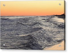 Sunset Surf Fishing Acrylic Print