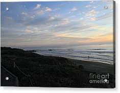 Sunset Surf Acrylic Print by Linda Woods