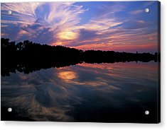 Acrylic Print featuring the photograph Sunset Swirl by Steve Stuller