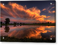 Sunset Symmetry Acrylic Print