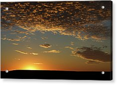 Acrylic Print featuring the photograph Sunset by Thomas Bomstad