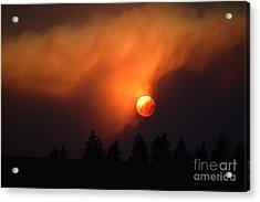 Sunset Through Smoke Acrylic Print