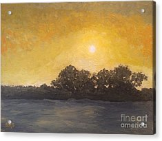 Sunset Through The Fog Acrylic Print by Stella Sherman