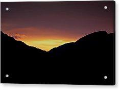 Sunset Through The Gap Acrylic Print