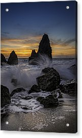 Sunset Tide On Rodeo Beach Acrylic Print by Rick Berk
