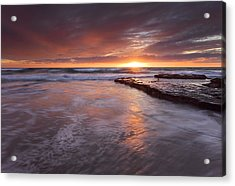 Sunset Tides Acrylic Print