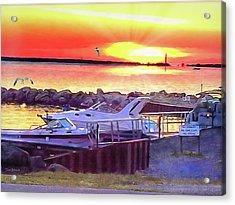 Sunset Acrylic Print by Tom Schmidt