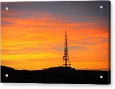 Acrylic Print featuring the photograph Sunset Tower by RKAB Works