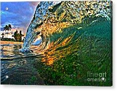 Sunset Tube Acrylic Print by Paul Topp