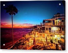 Sunset Twilight At The Laguna Riviera Acrylic Print