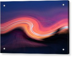 Sunset Twirl Acrylic Print