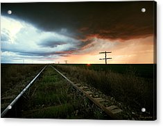 End Of A Stormy Day Acrylic Print by Brian Gustafson
