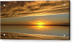 Sunset Under The Clouds Acrylic Print by Rob Graham