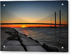 Sunset Under The Indian River Inlet Bridge Acrylic Print