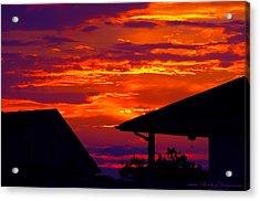 Sunset Va 4736 Acrylic Print by PhotohogDesigns