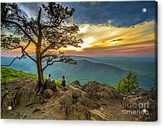 Sunset View At Ravens Roost Acrylic Print