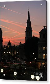 Sunset View From Charing Cross  Acrylic Print by Paula Guttilla