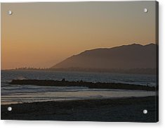 Sunset View Over The Pacific Ocean Acrylic Print by Stacy Gold