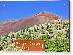 Sunset Crater Volcano Acrylic Print
