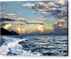 Sunset Wake Acrylic Print