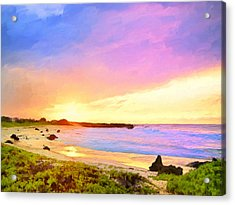 Sunset Walk Acrylic Print by Dominic Piperata