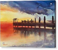 Sunset Watch Acrylic Print by Lynne Bolwell