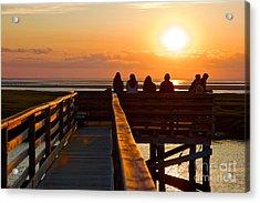 Sunset Watching At Grays Beach Boardwalk Acrylic Print